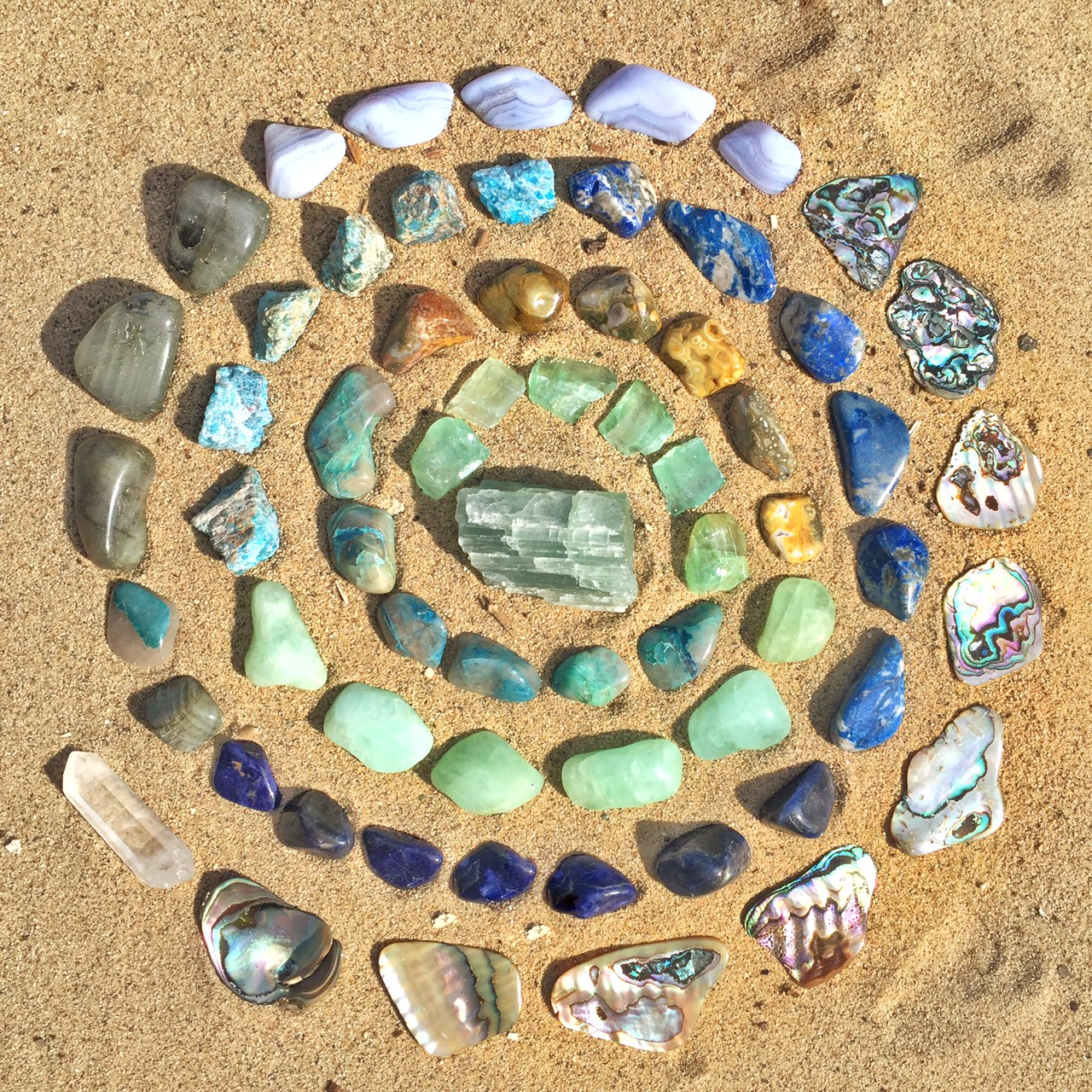Rainbow Crystal Grid How To Make A Crystal Grid