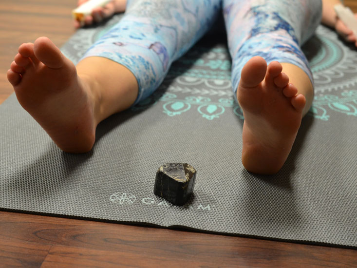 Black Tourmaline at the Bottom of Your Yoga Mat