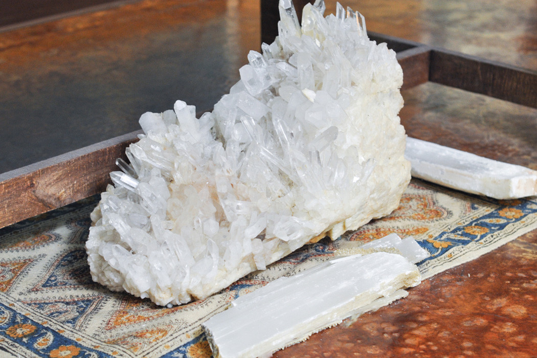 How to raise your vibrational energy with large crystals