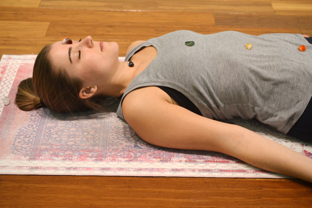 Chakra Cleansing with Crystals for Yoga