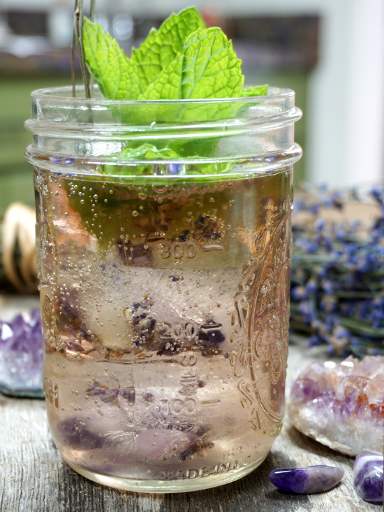 Intentional Summer Cocktails with a Crystal Twist