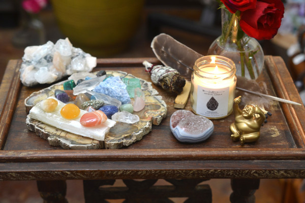 Create a Crystal Altar to Hold the Space for Your Intention