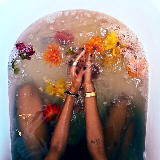 Wedding Bath Ritual with Crystals + Flowers