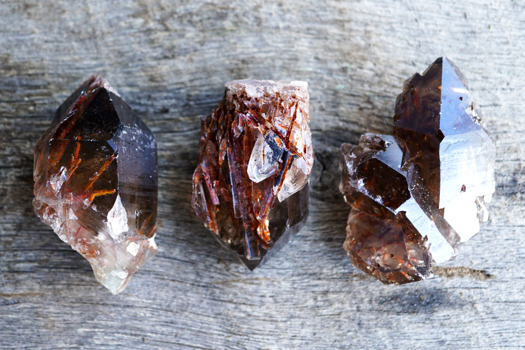 Take Action in Your Life with Red Epidote in Smoky Quartz