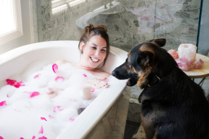 Treat Yourself + Recharge by Bathing with Crystals