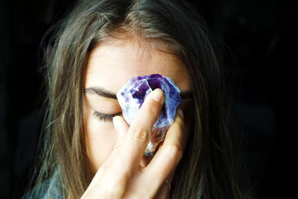 Celebrate the New Moon Energy with Amethyst Cacoxenite